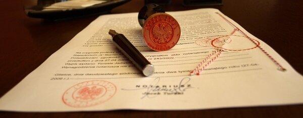 Akt notarialny / Budownictwo - nieruchomości