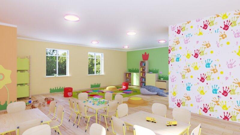 Wizualizacja sali przedszkola