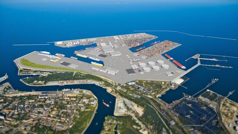 3D-visualisering  av  begrepet  sentral  Port  i  Gdansk