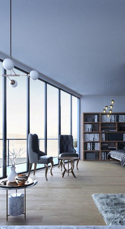 Wizualizacje architektoniczne | wave apartments glamour